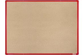 BoardOK Tabule s textilním povrchem 150 × 120 cm, červený rám