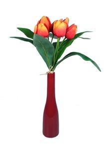 Kytice oranžových  tulipánů 9ks
