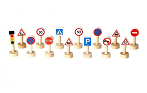 Sada dopravních značek a světel