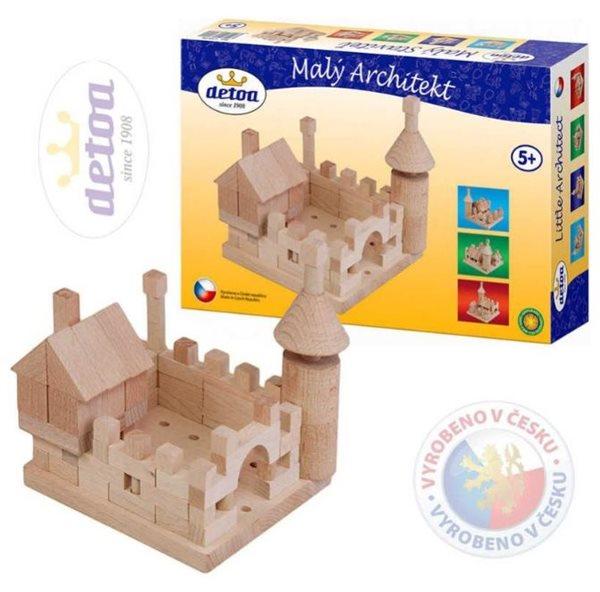 Stavebnice Malý Architekt - kostky dřevěné 120ks