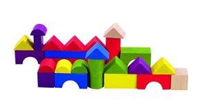 Stavebnice kostky barevné 100ks