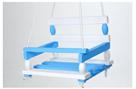 Houpačka dřevěná, bílo modrá 38x 30cm nosnost 200kg