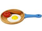 Dřevěný set snídaně na pánvičce