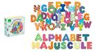 Dřevěné magnety Tiskací abeceda - 56 ks