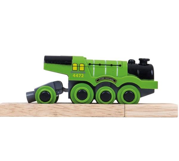 Elektrická lokomotiva zelená Flying Scotsman