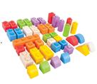 Dřevěné Spojkostky - Střední set 40 ks barevných kostek