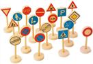Dřevěné dětské dopravní značky velké 18ks