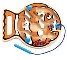 Dřevěný magnetický labyrint rybička, HAPE