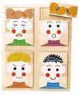 Vkládací puzzle obličeje /emoce - didaktická hračka