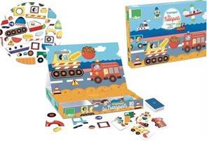 Skládací magnetická tabulka Doprava, dřevěná hra