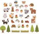 Dřevěné magnetky - lesní zvířátka