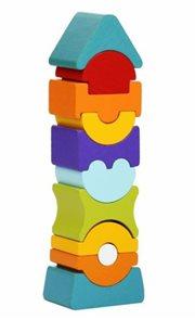 Balanční věž IX - dřevěná skládačka 11 dílů