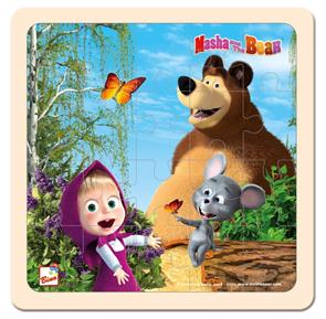 Máša a Medvěd puzzle 20 x 20 cm