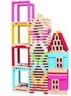 Dřevěná stavebnice, město 150 dílů