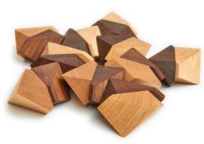 Skládačka dřevěné kameny 20 ks