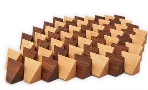 Skládačka dřevěné kameny 60 ks