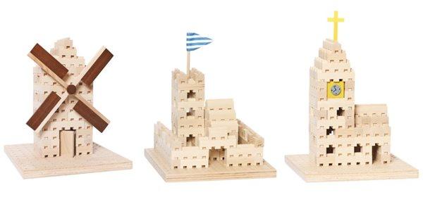 Dřevěná stavebnice Buko - sada 3 v 1, 137 dílů