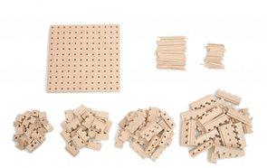 Dřevěná stavebnice Buko - Malá startovací sada, 141 dílů