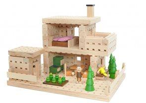 Dřevěná stavebnice Buko - Chata, 180 dílů