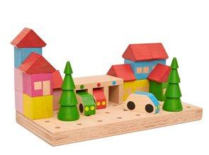 Dřevěná stavebnice Městečko, 23 dílů
