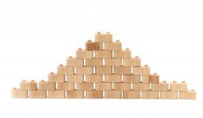 Dřevená stavebnice Godi, 40 dílů
