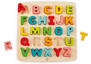 Dřevěné puzzle ABECEDA velká písmena