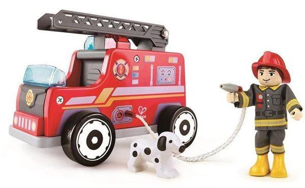 Hasičský vůz s hasičem