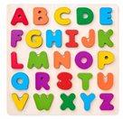 Puzzle ABC - masivní písmena na desce