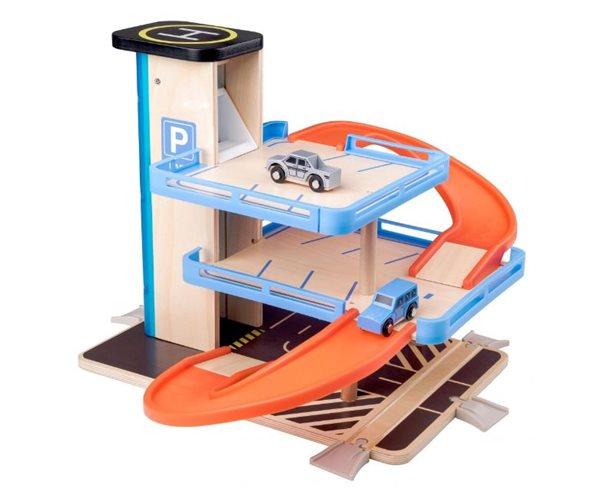 Garáž s výtahem a příslušenstvím, dřevo/plast, Sleva 16%