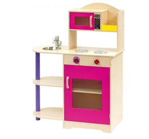 Dětská kuchyňka s mikrovlnnou troubou