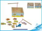 Hra akvárium magnetická 15x15x6cm 2druhy 12m+ v dřevěné krabičce