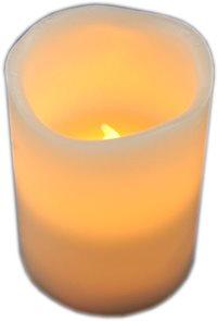 LED svíčka vosková 10 cm