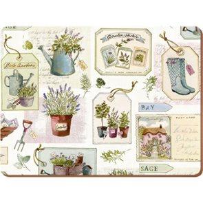 Korkové prostírání Herb Garden malé 6ks