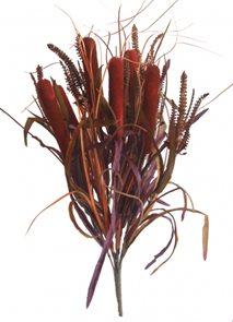 Ozdobná kytice trávy s doutníky