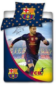 Povlečení FC Barcelona Pique s podpisem