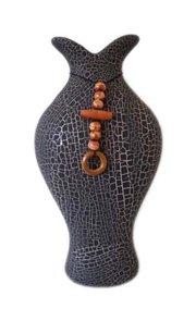 Váza Edith černá s ozdobou