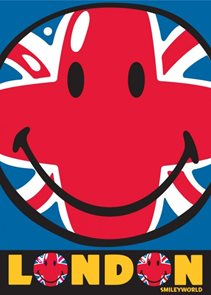 Dětský koberec Smiley Union Jack 95 x 133 cm