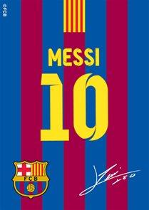 Koberec FC Barcelona Messi s podpisem 01 95 x 133 cm