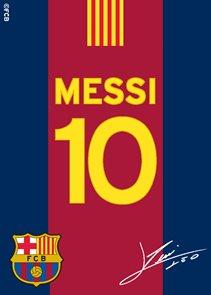 Koberec FC Barcelona Messi s podpisem 03 95 x 133 cm