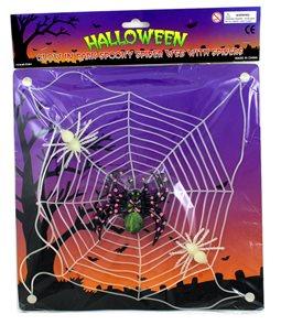 Svítící pavučina s pavoukem