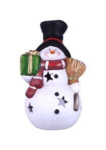 Svícen Sněhulák s dárečkem velký
