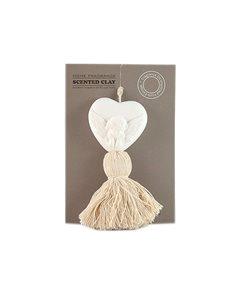 Parfemovaný jíl Srdce s andělem - vanilka