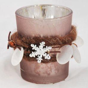 Svícen na votivní svíčky Zima