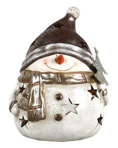 Svícen Sněhulák s čepicí