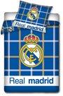 Fotbalové povlečení FC Real Madrid Káro 2014 140 x 200 cm