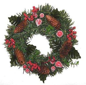 Dekorativní vánoční věnec 30 cm