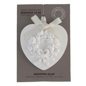 Parfemovaný jíl Srdce závěsné levandule a vanilka