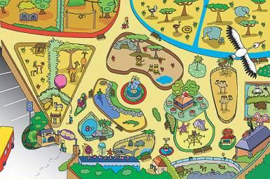 Dětský hrací koberec ZOO 100 x 150 cm