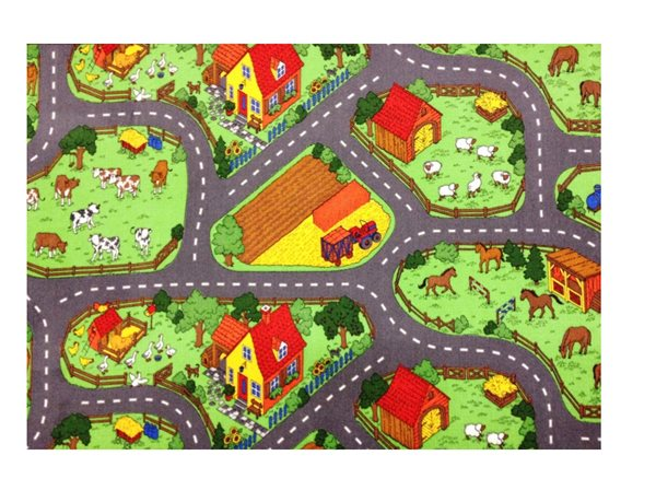 Dětský koberec Farma 80 x 120 cm