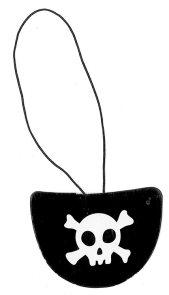 Pirátská záplata na oko 6 ks